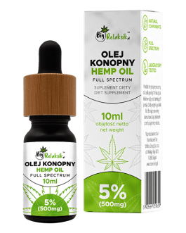 Olej Konopny 5% – 500mg