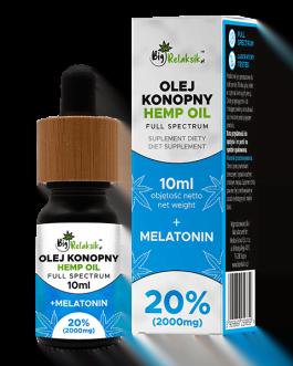 Olej Konopny 20% + Melatonina